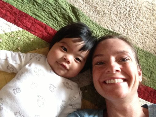 Mommy and Me Selfie